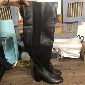 Nine West over the knee boots 6 black leather